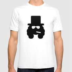 slash White Mens Fitted Tee SMALL