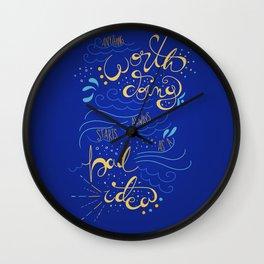 Anything Worth Doing - Nikolai Lantsov Wall Clock