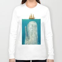 play Long Sleeve T-shirts featuring The Whale - colour option by Terry Fan
