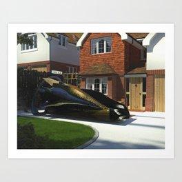 Black Renault Art Print