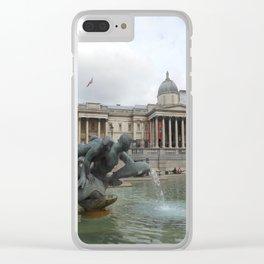 trafalgar square fountain Clear iPhone Case