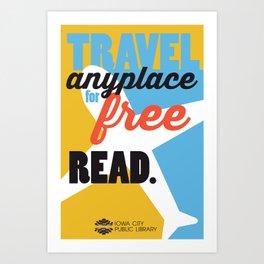 Travel - Iowa City Public Library Art Print