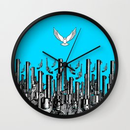 Peace of the Action BLUE / Peace concept Wall Clock
