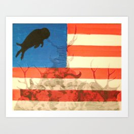Buffalo Flag Art Print