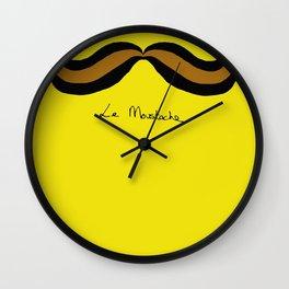 Monsieur Mustard Moustache Wall Clock