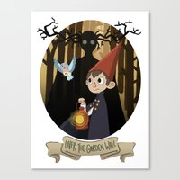 over the garden wall Canvas Prints featuring Over The Garden Wall by Lockholmes