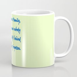 Lilo & Stitch - Ohana Quote Coffee Mug