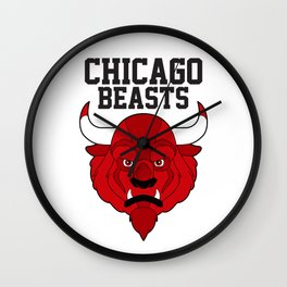 Chicago Beasts Wall Clock