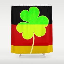 Funny St. Patrick's Day Flag Irish Shamrock German Flag Colors Shower Curtain