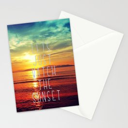 watch the sunset Stationery Cards