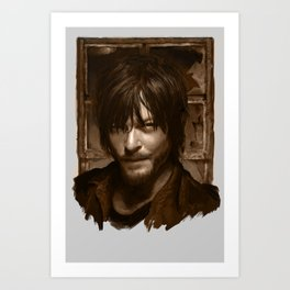 "Daryl Dixon (Norman Reedus) from ""The Walking Dead"" Art Print"