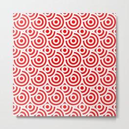 japanese pattern red Metal Print