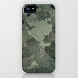 Dirty camouflage texture iPhone Case