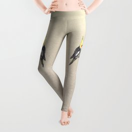 Two cute cockatiels Leggings
