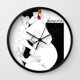 NUDEGRAFIA - 48 Pregnancy Wall Clock