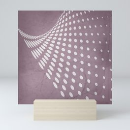 Halftone Flowing Swerve in Musk Mauve Mini Art Print
