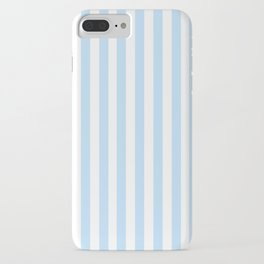 Classic Seersucker Stripes in Blue + White iPhone Case