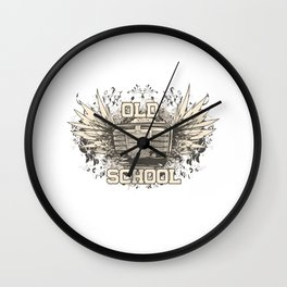 Old School Jukebox and Wings Wall Clock
