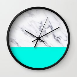 Marble Blue Luxury iPhone Case and Throw Pillow Design Wall Clock