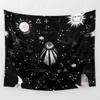 spiritual Wall Tapestries featuring Spiritual Alchemy by Deborah Panesar Illustration