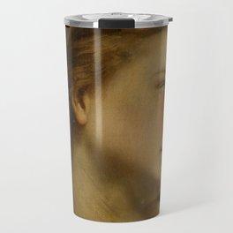 """William-Adolphe Bouguereau """"Study Of a Woman's Head (Philomèle Et Progné)"""" Travel Mug"""