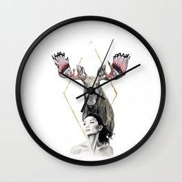 Haida Moose Wall Clock