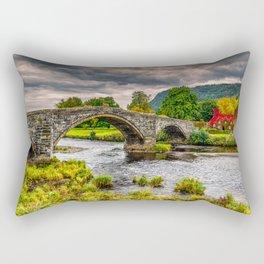 Llanrwst Bridge Autumn Rectangular Pillow