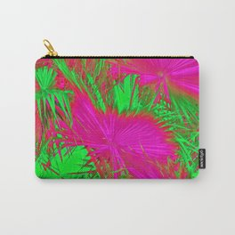 closeup palm leaf texture abstract background in pink and green Carry-All Pouch