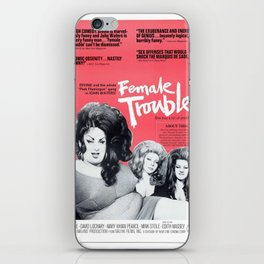 Vintage Female Trouble Movie Poster iPhone Skin