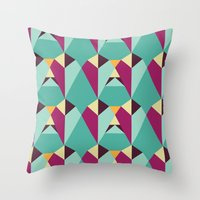 gem Throw Pillows featuring GEM by gdChiarts
