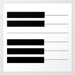 Piano Keys Art Print