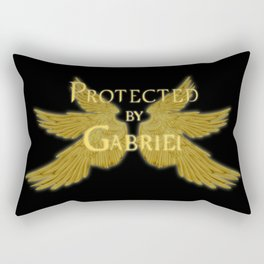 Protected by Gabriel Rectangular Pillow