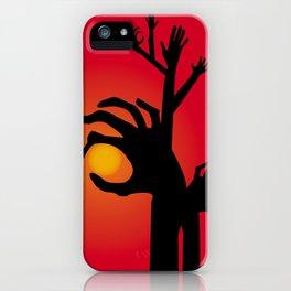 Halloween Raising Ghost Hands iPhone Case
