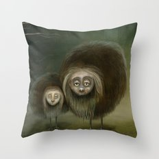 Mabel and Mo Throw Pillow