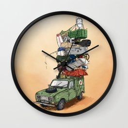 Renault F4 Luggage Wall Clock