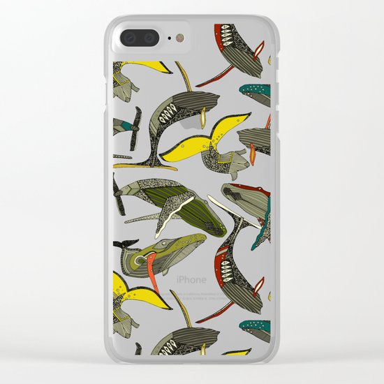whales and waves bold Clear iPhone Case