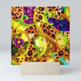 The Garden of Eden abstract geometric leopart print Mini Art Print