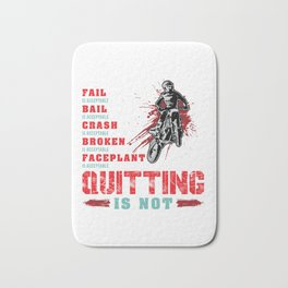 Never Quitting Motocross Dirt Bike Bath Mat