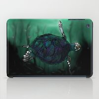 sea turtle iPad Cases featuring Sea Turtle by Ben Geiger