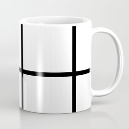 Big Grid Pattern Coffee Mug