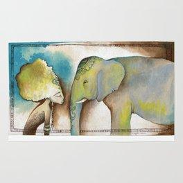 """""""La mujer y el elefante nunca olvidan"""" ~ """"Women and elephants never forget"""" Rug"""