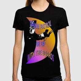 Dawn Patrol - Orange Be Up With The Boards Kitesurf T-shirt