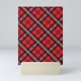 Scottish Plaid (Tartan) - Red Mini Art Print