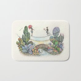 Love is a balanced act Bath Mat
