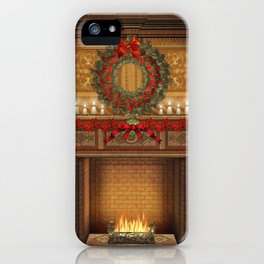 Christmas Fireplace iPhone Case