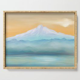 Sunrise Fuji Mount Serving Tray