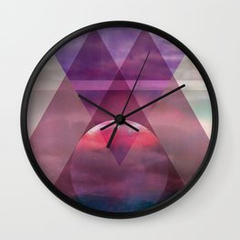 Cosmic Pyramides Wall Clock