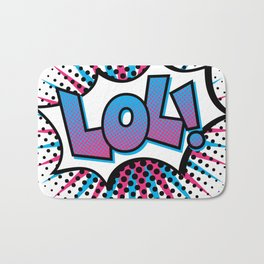 Pop Art LOL! Bath Mat