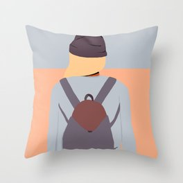 Skate Girl Series Throw Pillow