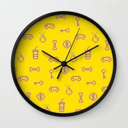 Oldschool gaming inspired design Wall Clock